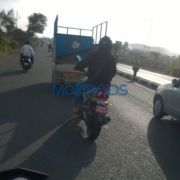 Bajaj CS400 spied once more 2 1 180x180 Upcoming Bajaj Pulsar CS400 test mule snapped once again