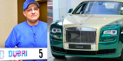 Balwinder Sahini D5 500x250 Indian businessman pays a whopping INR 60 Crores for special Dubai number plate