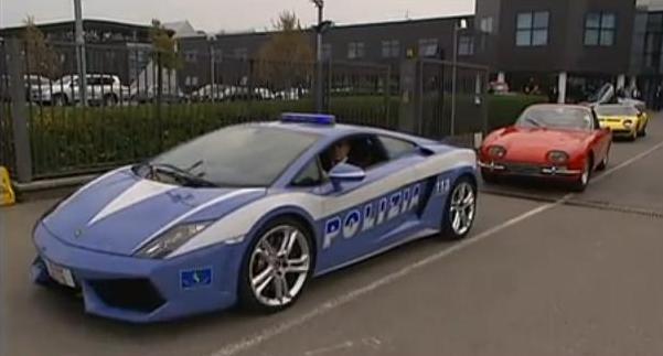 Lamborghini V12 supercar parade