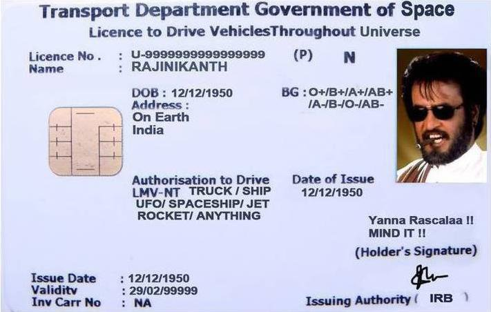 Rajnikanth-Driving-License
