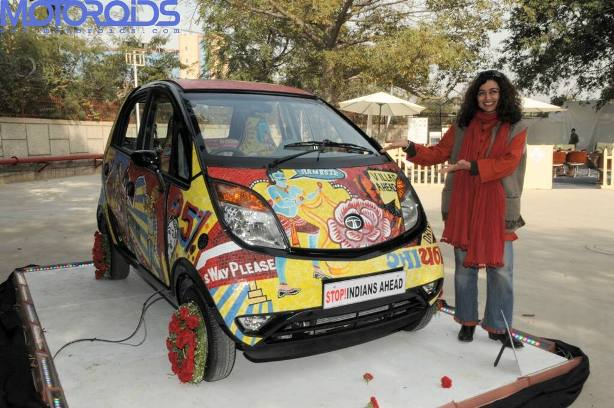Tata Nano in pop Mosaic art by ketna Patel
