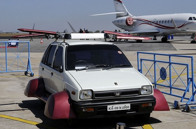 Indian inventor makes a flying Maruti 800
