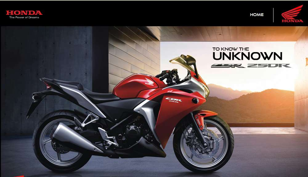 Honda Official Site >> Honda Cbr250r Official Indian Website Up With Price