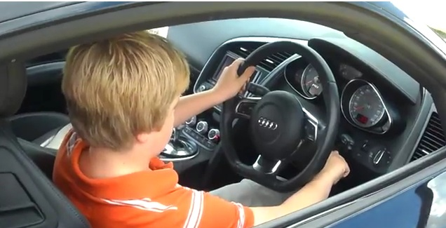 Audi-R8-being-driven-by-11-year-old