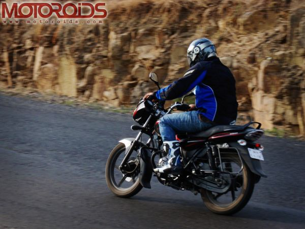 Bajaj Discover 150 - On Road Action Shot