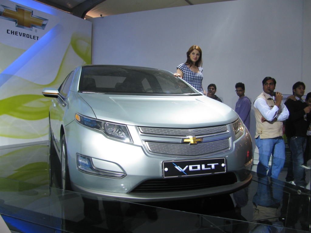 Chevrolet Volt unveiled at the Auto Expo