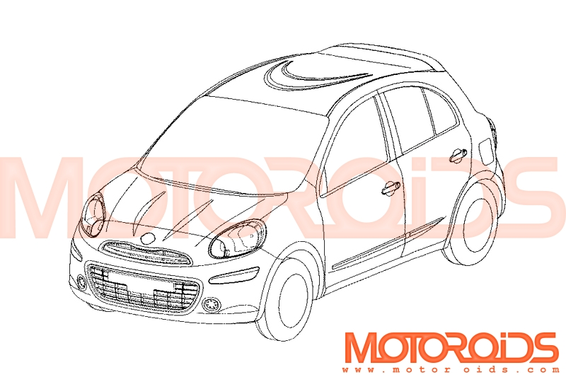 A new line-art of 2010 Nissan Micra emerges on the internet