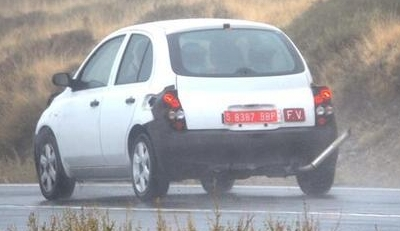The spy shots of the 2010 Nissan Micra