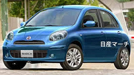 Artist impression of the 2010 Nissan Micra