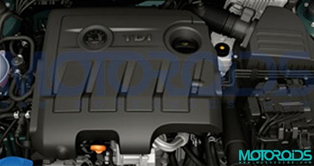 Skoda 1.6-litre TDI CR engine that will power the 2011 Skoda Felicia