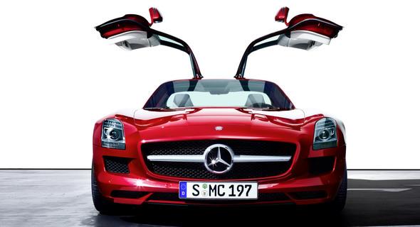 Mercedes SLS AMG at Auto Expo