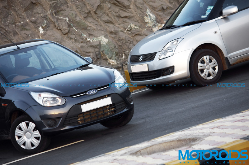 Ford Figo and Maruti Suzuki Swift - Front View Shot