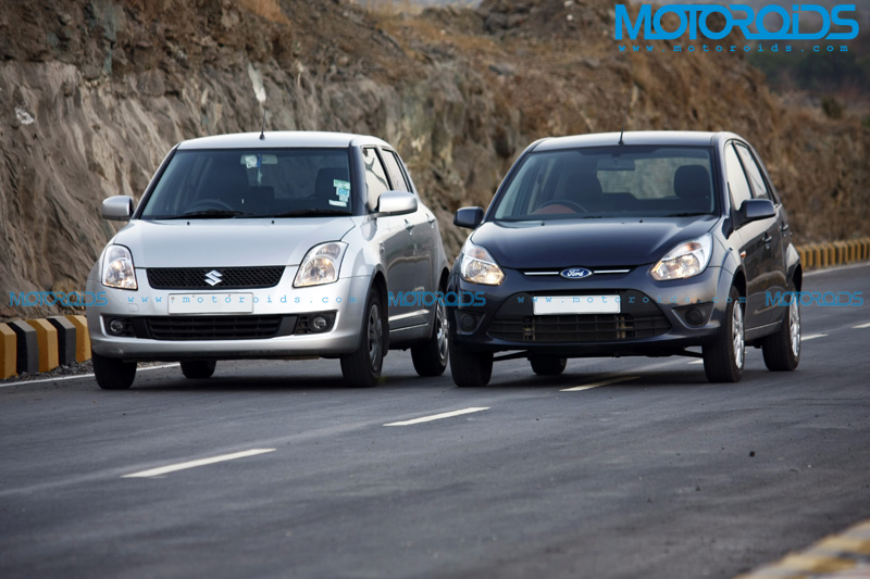 Ford Figo Vs Maruti Suzuki Swift - On Road