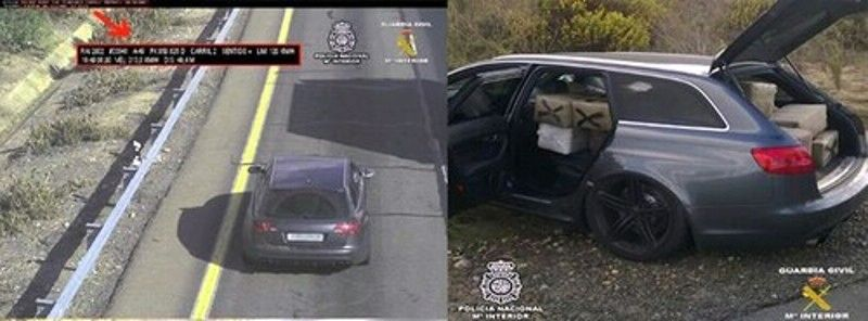 Audi RS6, drug haul, spain, police chase