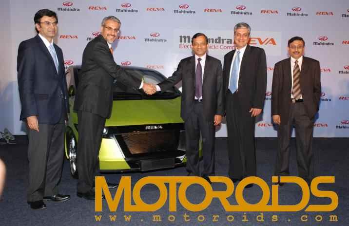 Mahindra and Mahindra and REVA joint venture - motoroids.com