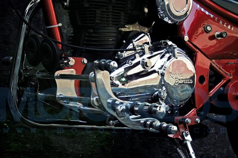 vardenchi custom chopper based on a royal enfield motorcycle
