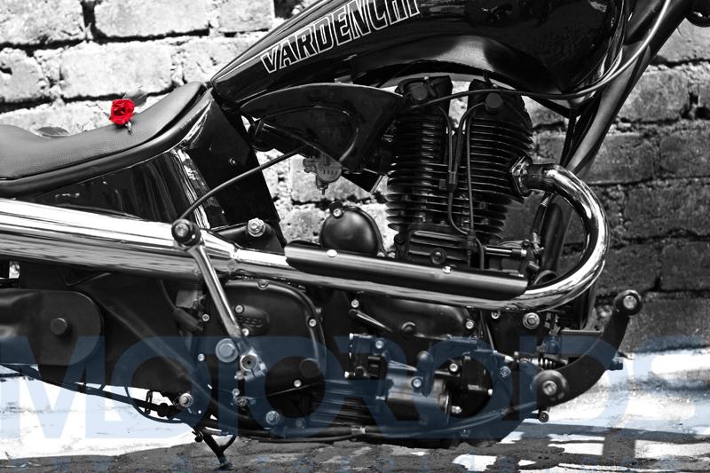 vardenchi, custom chopper, india, modified bullet, motoroids,