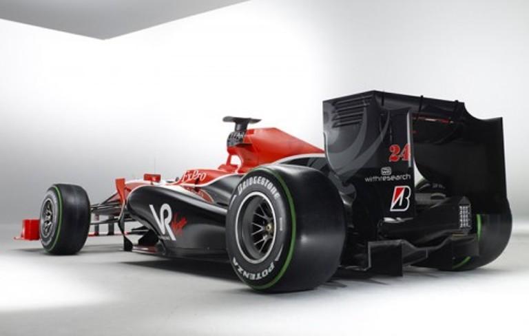 2010 virgin f1 car
