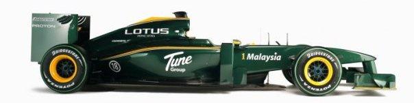 2010 lotus cosworth f1 car