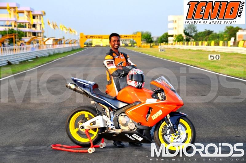 Emmanuel Jebaraj, Ten10 Racing - www.motoroids.com
