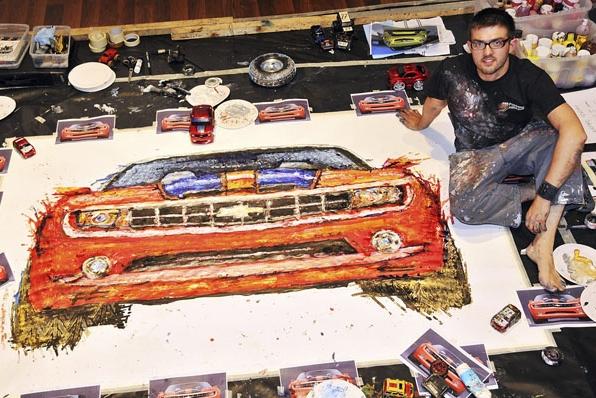 Ian Cook Rc car painting
