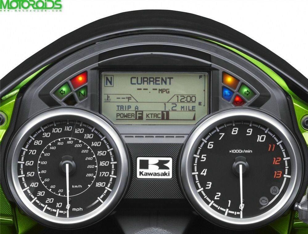 2012 Kawasaki ZZR1400 istruments