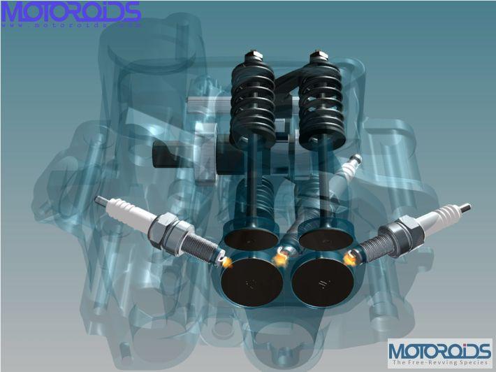 Pulsar 200NS - Triple Spark 4Valve Cylinder Head