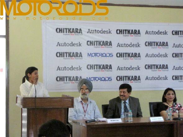 Chitkara University's car