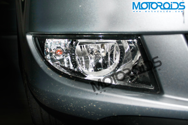 The new fog lamps on the 2010 Skoda Fabia sold in India
