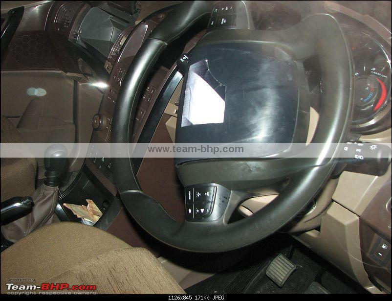 Interior and new scoop shots of the 2011 Mahindra W201 World SUV