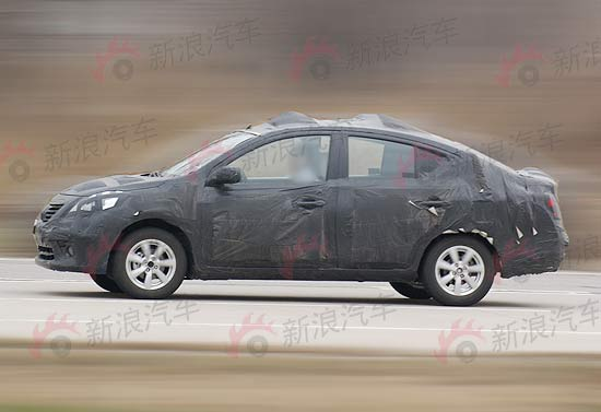 V platform based Micra sedan caught on test; could be called Nissan Tiida in India. More info on Motoroids.com