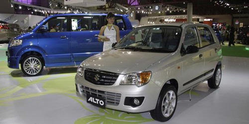 The new K Series Maruti Suzuki Alto was displayed in the Indonesian International Motor Show 2010 (IIMS) - www.motoroids.com