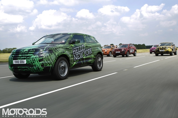Land Rover Evoque Prototypes to roam the globe and greet a 'Hello' to all its major markets, India not included yet