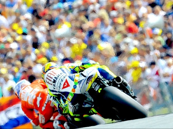 Race report of eni Motorrad Grand Prix Deutschland (MotoGP of Sachsenring, Germany) 2010, where Rossi made his iconic comeback