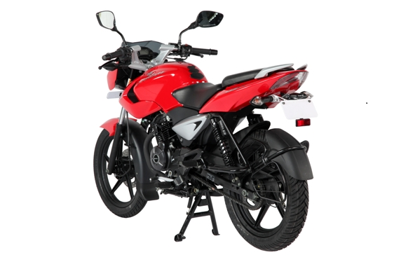 Bajaj Auto Ltd introduces a new revised version of the Pulsar 135 LS with a sport rear tyre hugger, O-ring chain and half chain cover