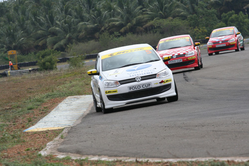 After the first race that took place in Pune, the 2nd race of the Volkswagen-JK Tyre Polo Cup 2010 takes place today at the Kari Motor Speedway, Coimbatore - www.motoroids.com