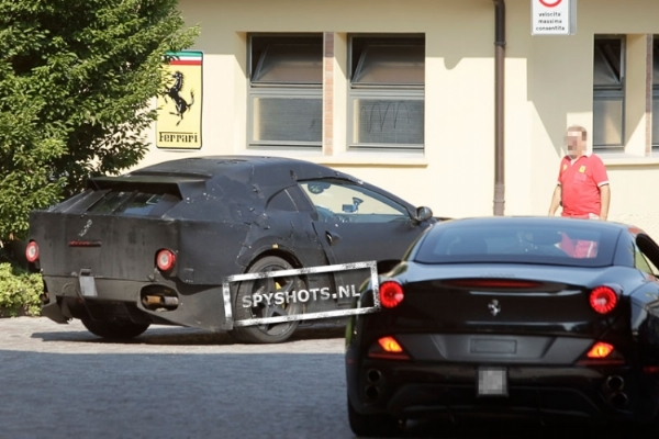 2011 Ferrari Gran Turismo spy shots rear right three quarter 1