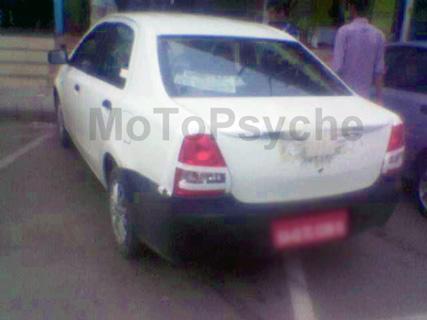 The Toyota Etios Sedan was recenlty caught testing in Chandigarh - www.motoroids.com