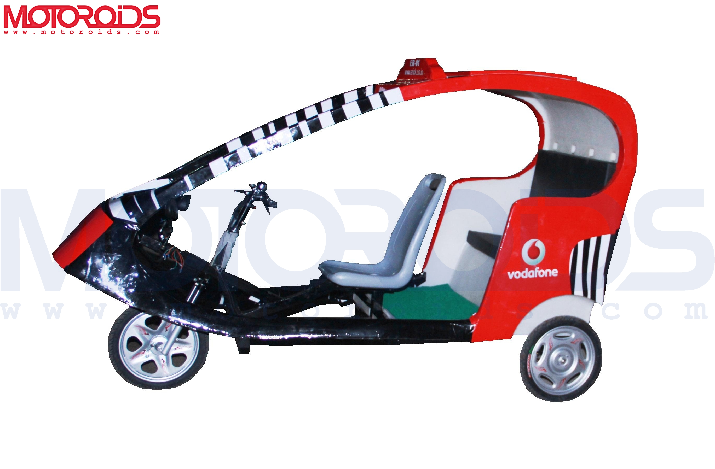 Vodafone has introduced the E-rick (electronic rickshaw) in Delhi. More details on Motoroids.com