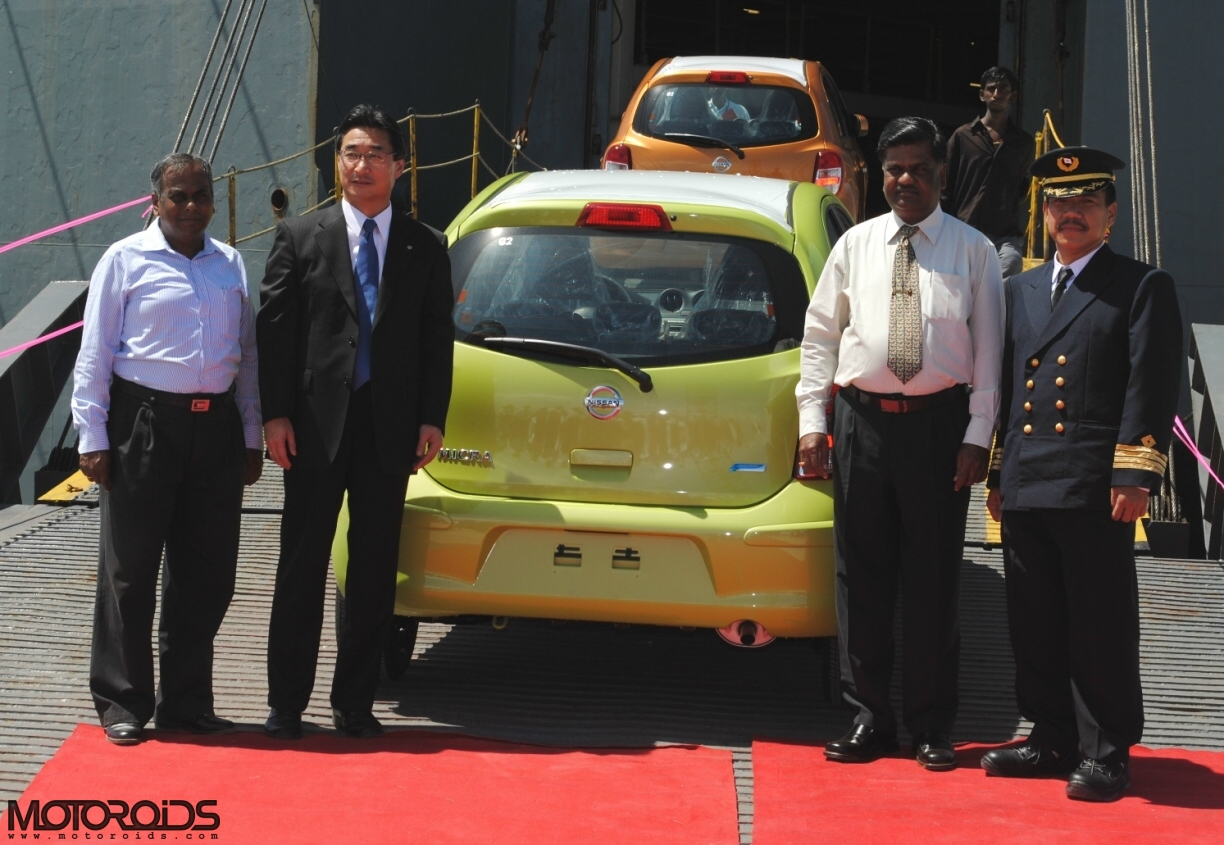 Nissan Motor India starts export of the Micra small to Europe, sends a consignment of more than 3000 cars
