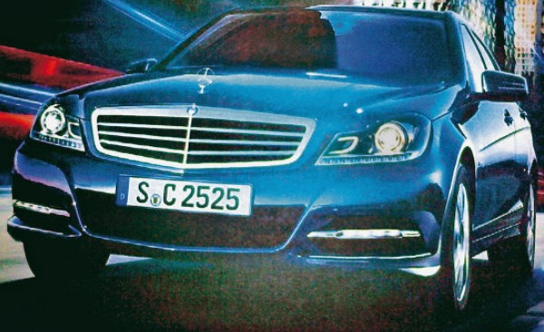 Leaked brochure images and details of the 2012 Mercedes Benz C-class