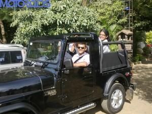 Mahindra Thar off-road trail