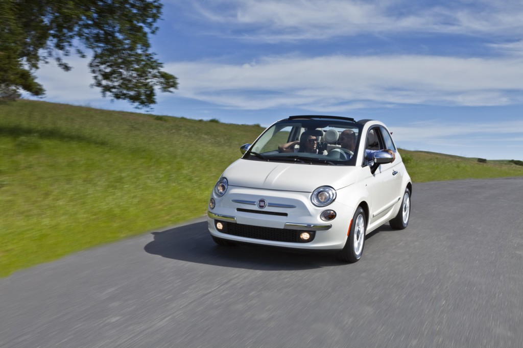Fiat showcased their new Fiat 500c at the New York Auto Show 2011