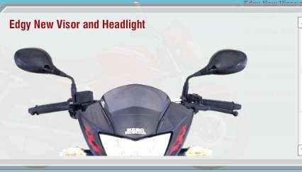 New 2011 Hero honda Glamour FI visor