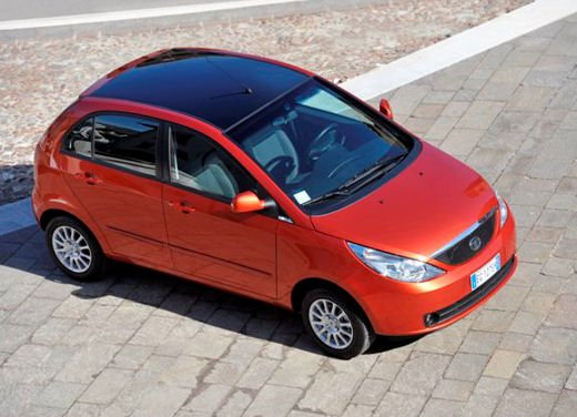 Tata Motors have introduced a Bi-Colour Indica Vista In Italy with a black coloured roof