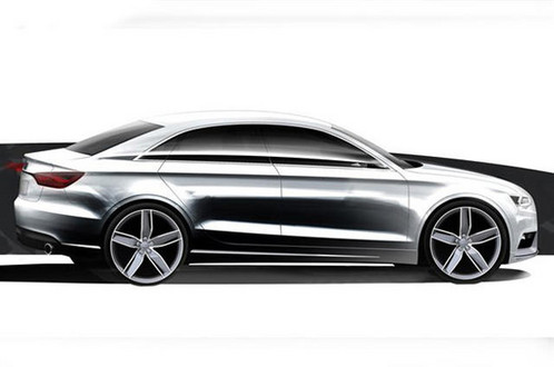 Audi has unveiled sketches of R8 GT Spyder and Audi A3 Sedan with A3 Hatchback