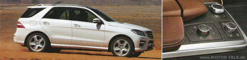 Mercedes Benz M-Class Leaked Snaps