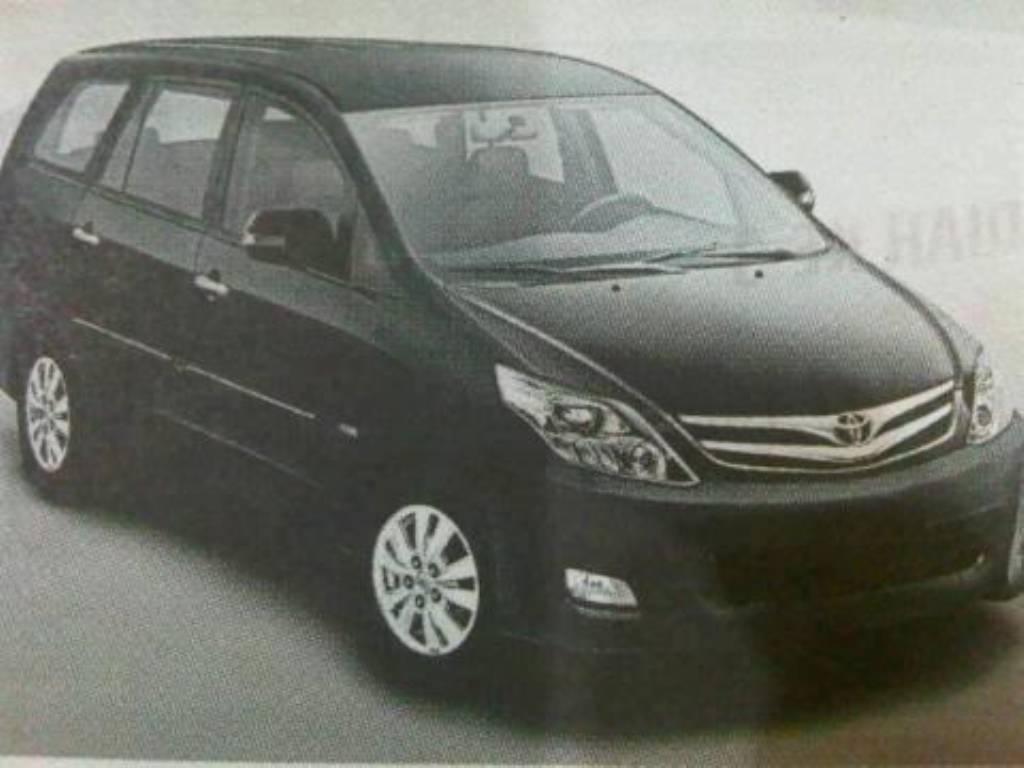 Toyota Innova Facelift Spied Again