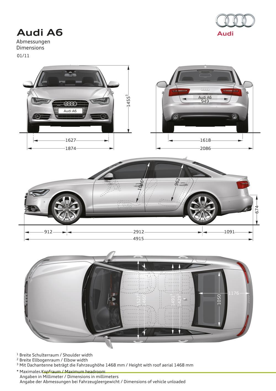 Audi A6 dimensions
