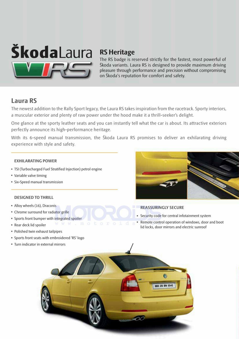 Skoda Laura RS features